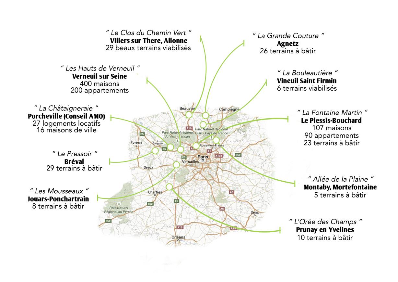Stratégie Conseil - carte de réalisations